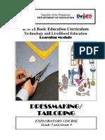 Dressmaking Tailoring Lm