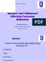 Barriers and Influences Affecting Consumer Behaviour