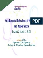 2016-04-07 Fundamental Principles of Hydrology & Applications