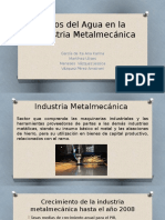 Usos Del Agua en La Industria Metalmecánica 36