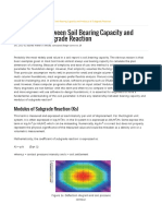 Correlation Between Soil Bearing Capacity and Modulus of Subgrade Reaction