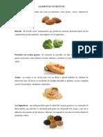 ALIMENTOS NUTRITIVOS