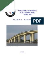 Grouting of Bridge Pt Tendons-training Manual