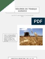 Nuevo Régimen de Trabajo Agrario