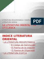 La Literatura Oriental II y Griega