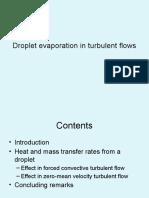 Evaporation in Turbulent Flows