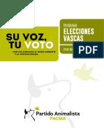 Programa Electoral Elecciones Euskadi 2016 Castellano