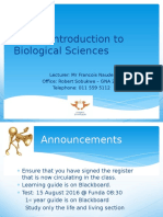 2016_ Lecture 2 and 3_Introduction to Biological Sciences