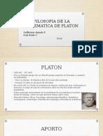 Filosofia de La Matematica de Platon