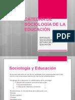 ENFOQUES SOCIOL+ôGICOS PARA EL ESTUDIO DE LA EDUCACI+ôN