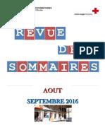 RS Août, Septembre 2016