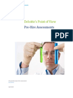Deloitte's Point of View on Pre-Hire Assessments
