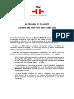 Anuario 2012 Instituto Cervantes Sobre a Língua Espanhola