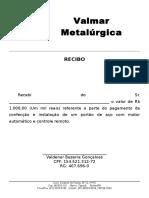 Recibo Metalúrgica Valmar 08-09-2016