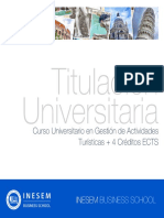 Curso Universitario en Gestión de Actividades Turísticas + 4 Créditos ECTS