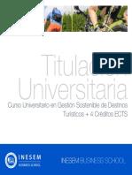 Curso Universitario en Gestión Sostenible de Destinos Turísticos + 4 Créditos ECTS
