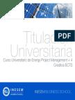 Curso Universitario de Energy Project Management + 4 Créditos ECTS