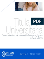 Curso Universitario de Intervención Psicopedagógica + 4 Créditos ECTS
