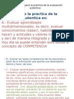 Orientaciones Para La Practica de La Evaluación Autentica 8