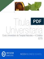 Curso Universitario de Terapias Naturales + 4 Créditos ECTS