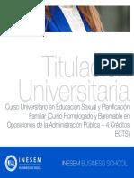 Curso Universitario en Educación Sexual y Planificación Familiar (Curso Homologado y Baremable en Oposiciones de la Administración Pública + 4 Créditos ECTS)
