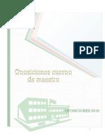 Indice Oposiciones Maestro Primaria
