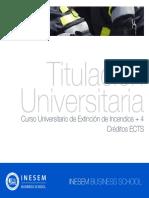 Curso Universitario de Extinción de Incendios + 4 Créditos ECTS