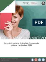 Curso Universitario de Analista Programador JQuery + 4 Créditos ECTS