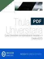 Curso Universitario de Automatización Industrial + 4 Créditos ECTS
