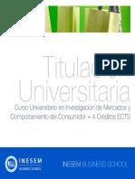 Curso Universitario en Investigación de Mercados y Comportamiento del Consumidor + 4 Créditos ECTS