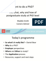 Want to do a PhD