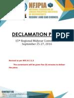 Declamation piece