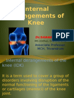 Internal Derangements of Knee