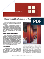 DCA 1 - Flame Spread Performance of Wood Products