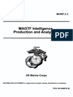MCWP 2-3 MAGTF Intelligence Production and Analysis