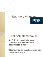 Nutrition and Vitamins