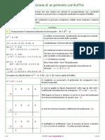 Scomposizione di un polinomio con Ruffini