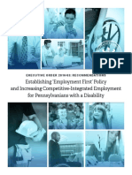 Establishing 'Employment First' Policy and Increasing Competitive-Integrated Employment for Pennsylvanians with a Disability