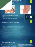Anestesia Para Cesárea
