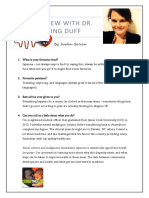 Interview With Dr Aisling Duff
