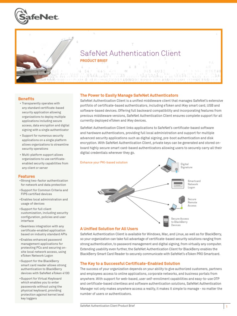 SAC Client Product Brief | Smart Card | Authentication