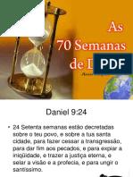 As 70 semanas profeticas