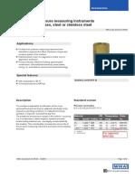 WIKA - Data Sheet for Snubber