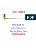 Simple Good ........... Thumb Instruction Instructions .......... EmbSys99(OM)_Thumb