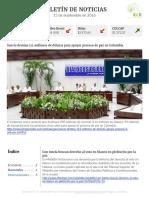 Boletín de noticias KLR 15SEP2016