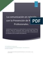 La comunicacion en la prevencion de riesgos laborales