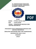 Proposal Permohonan Bantuan Beasiswa Kepada Bapak Gubernur Sulawesi Tenggara