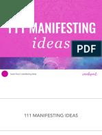 111 Manifesting Ideas - Sarah Prout