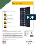 Solarworld Sunmodule Sw 275 Specs