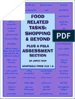 Food Related Tasks and Beyond with a PBLA Assessment